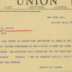 Telegram : 1939 October 14