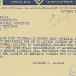 Telegram : 1941 October 7