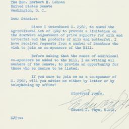 Letter : 1954 February 22