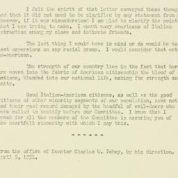 Memorandum : 1951 April 5