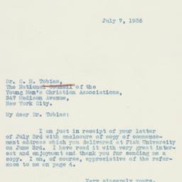 Letter : 1936 July 7