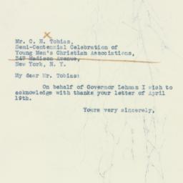 Letter : 1938 April 25