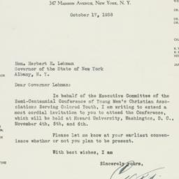 Letter : 1938 October 17
