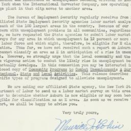 Letter : 1950 March 1