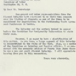 Letter : 1950 May 19