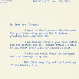 Letter : 1940 December 28