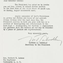 Letter : 1945 August 15