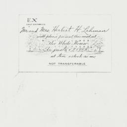 Invitation : 1945 August 19