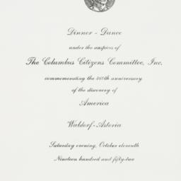 Invitation: 1952 October 11