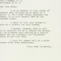 Letter : 1951 December 11