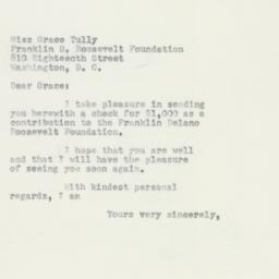 Letter : 1952 April 30