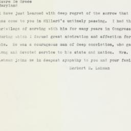 Telegram : 1961 February 14