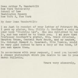 Letter : 1946 March 1