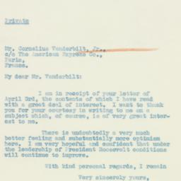 Letter : 1933 May 3