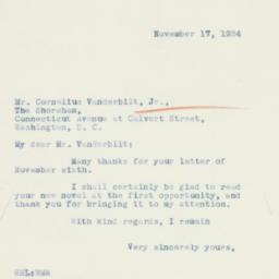 Letter : 1934 November 17