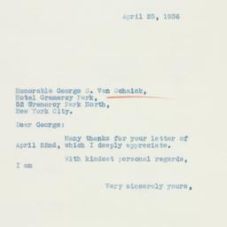 Letter : 1936 April 25