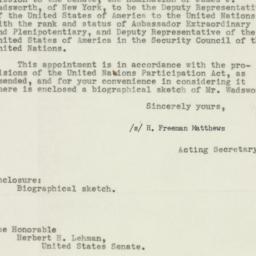 Letter : 1953 February 2