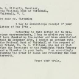 Letter : 1932 May 27