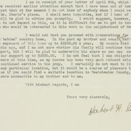 Letter : 1919 April 16