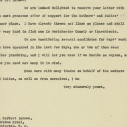 Letter : 1919 April 19