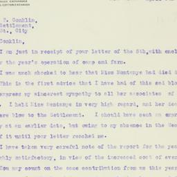 Letter : 1920 April 8
