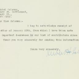 Letter : 1924 January 26