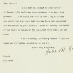 Letter: 1925 January 13