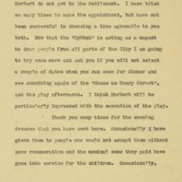Letter : 1926 January 11