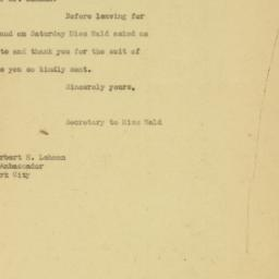 Letter : 1926 May 24
