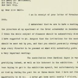 Letter : 1926 November 30