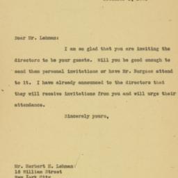 Letter : 1926 December 1