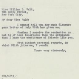 Letter : 1932 August 3