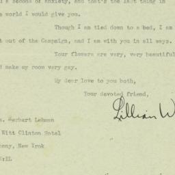 Letter : 1932 October 27
