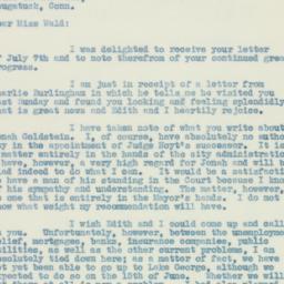 Letter : 1933 July 13