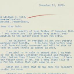 Letter : 1933 December 15