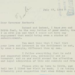 Letter : 1934 July 27