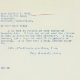 Letter : 1935 December 10