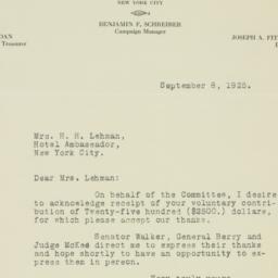 Letter : 1925 September 8