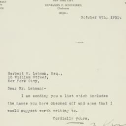 Letter : 1925 October 8