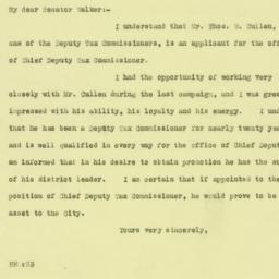Letter : 1925 December 22