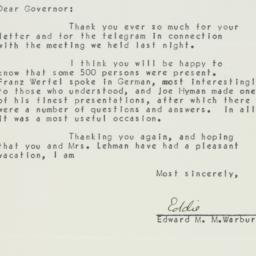 Letter : 1940 December 4