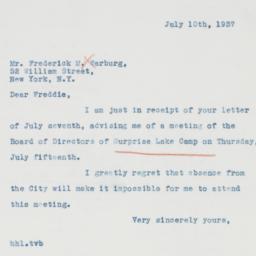 Letter : 1937 July 10