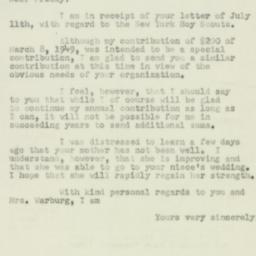Letter : 1950 July 15