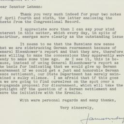 Letter : 1951 April 10