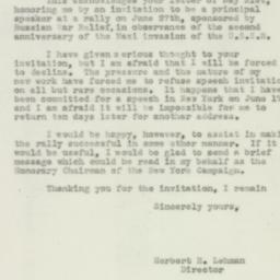 Letter : 1943 May 28