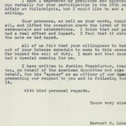 Letter : 1958 April 25