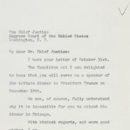 Letter : 1960 November 2