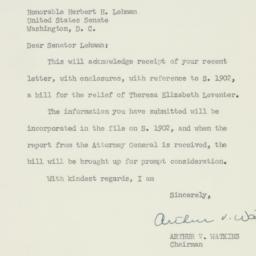 Letter : 1953 June 9