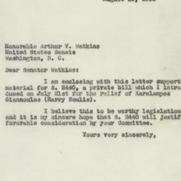 Letter : 1953 August 19