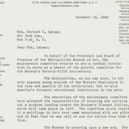 Letter : 1945 December 15